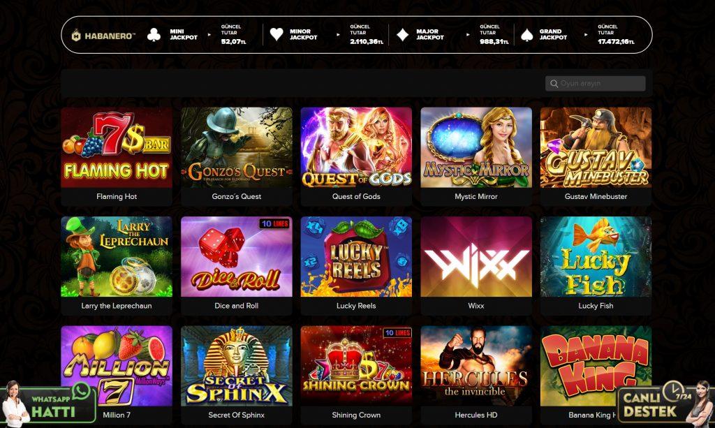casinovale jackpot oyunlari